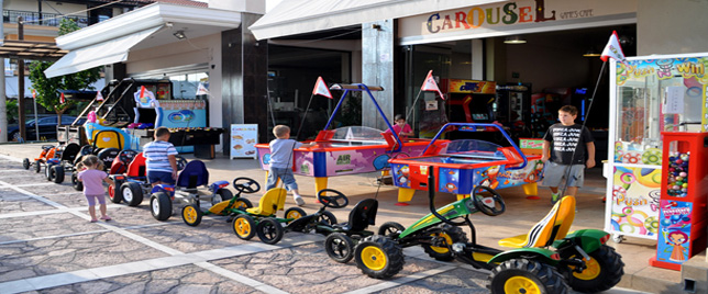 Carousel Games Cafe - Rent Pental Go Cart στον Πεζόδρομο Νέων Βρασνών